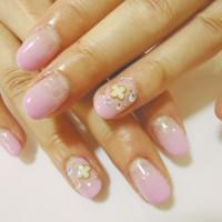春のピンクネイル★