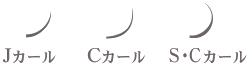 まつげエクステカール種類: Jカール、Cカール、S・Cカール